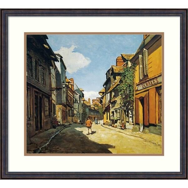 Framed Art Print 'Rue de Bavolle, Honfleur' - 25x23-inch