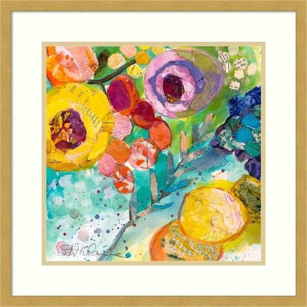 Framed Art Print 'Bold Blooms II' - 21x21-inch