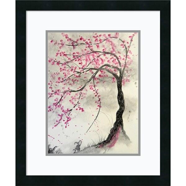 Framed Art Print 'Cherry Blossom Tree' by Ed Capeau - 20x24-inch