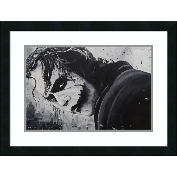 Framed Art Print 'The Joker' by Ed Capeau - Outer Size 25 x 19-inch