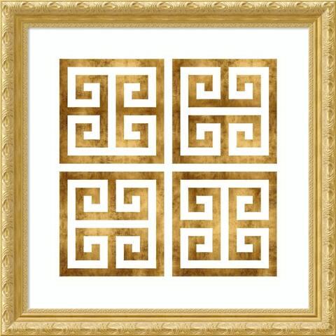 Framed Art Print 'Greek Classic III' by Ellie Roberts - 28x28-inch