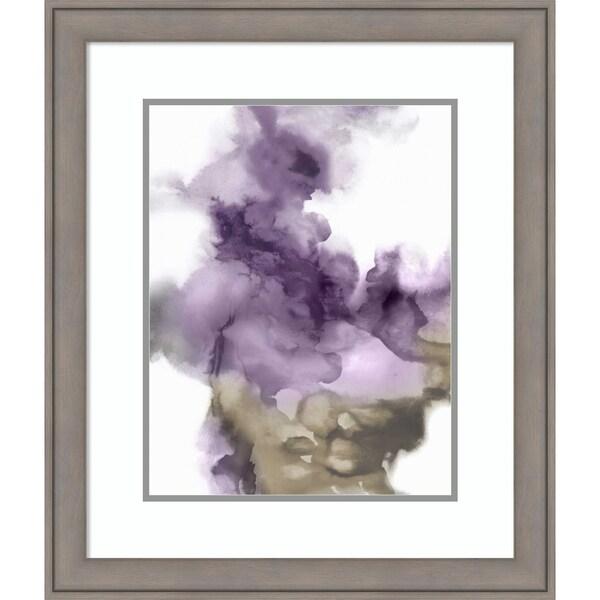 Framed Art Print 'Derive in Amethyst I' by Daniela Hudson - 23x27-inch