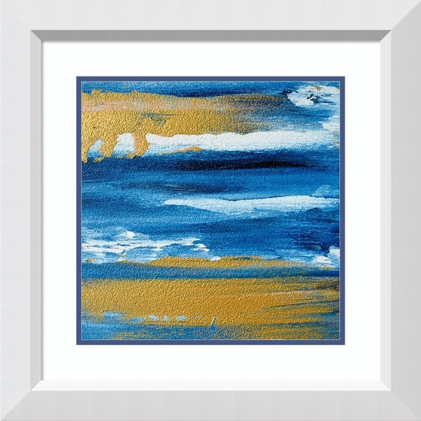 Framed Art Print 'The Gilded Deep' by Glam Gold-Outer Size 24x24-inch