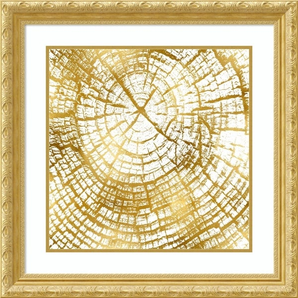 Framed Art Print 'Chopped Gold II' by Danielle Carson - 28x28-inch