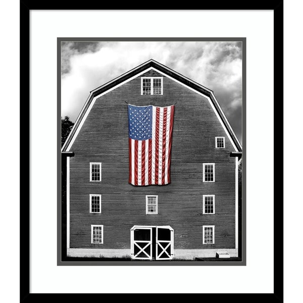 Framed Art Print 'Flags of Our Farmers XIX' - 20x23-inch