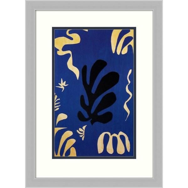 Framed Art Print 'Composition Fond Bleu' by Henri Matisse - 17x23-inch