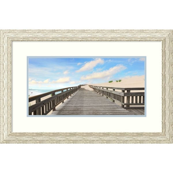 Framed Art Print 'Beach Photography XI' - 29x19-inch