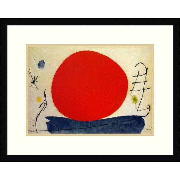 Framed Art Print 'Untitled (Solo Rosso-Only Red), 1967' - 24x19-inch