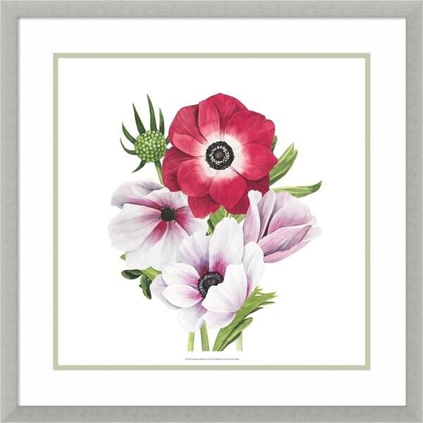 Framed Art Print 'Anemone Blooms I' by Grace Popp - 25x25-inch
