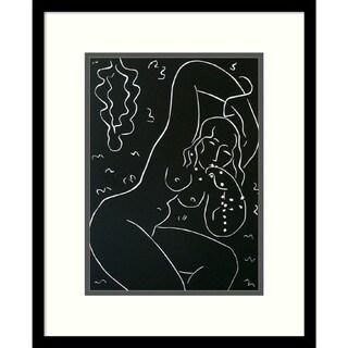Framed Art Print 'Nu au Bracelet' by Henri Matisse - 18x22-inch