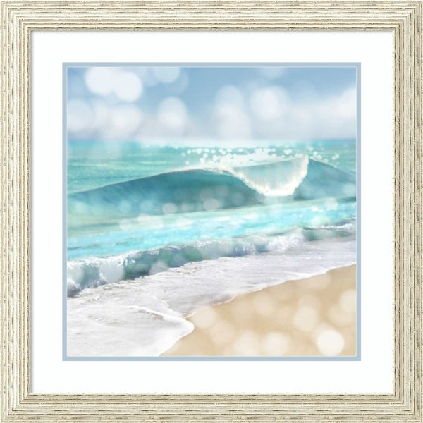 Framed Art Print 'Ocean Reflections I' by Kate Carrigan - 27x27-inch