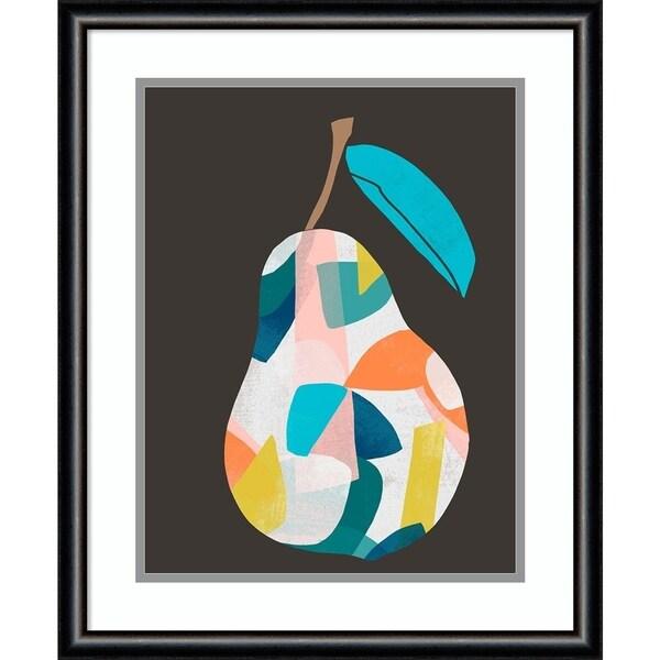 Framed Art Print 'Fab Fruit I Pear' by June Erica Vess - 19x23-inch