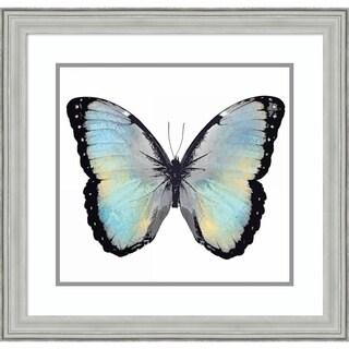 Framed Art Print 'Blue Hue Butterfly' by Julia Bosco - 24x23-inch