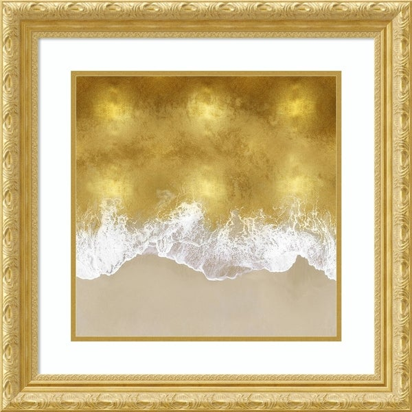 Framed Art Print 'Gold Coast II' by Maggie Olsen-Outer Size 25x25-inch