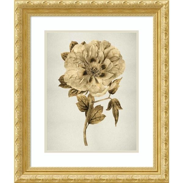 Framed Art Print 'Gold Tulip I' by Kate Bennett-Outer Size 22x26-inch