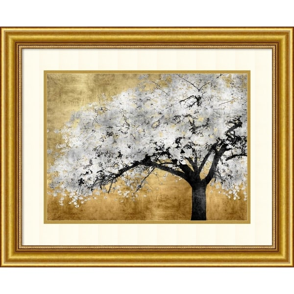 Framed Art Print 'Silver Blossoms Tree' by Kate Bennett - 28x23-inch