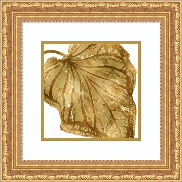 Framed Art Print 'Tropical Gold Palm III' - 19x19-inch