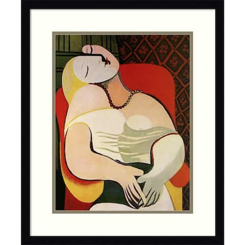 Framed Art Print 'The Dream, 1932' by Pablo Picasso - 20x24-inch