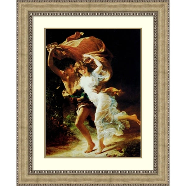 Framed Art Print 'The Storm' by Pierre Auguste Cot - 37x45-inch
