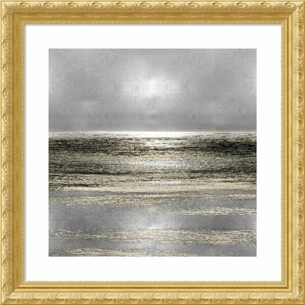 Framed Art Print 'Silver Seascape I' by Michelle Matthews - 29x29-inch