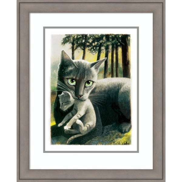 Framed Art Print 'Brandy New Day Cat' by Laura Seeley - 22x27-inch