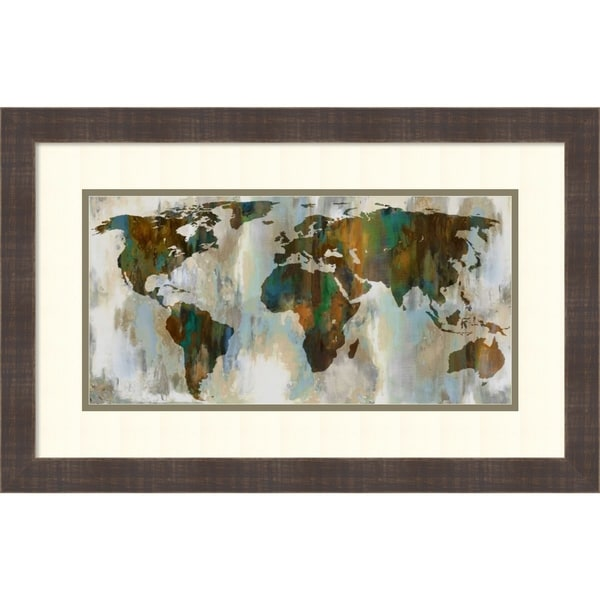 Framed Art Print 'Worldof Color' by Russell Brennan - 25x16-inch