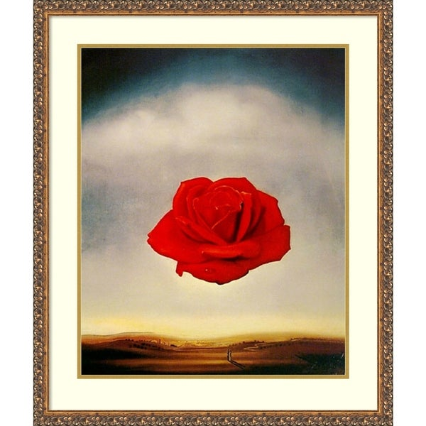 Framed Art Print 'The Rose' by Salvador Dali - Outer Size 27 x 32-inch