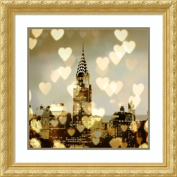 Framed Art Print 'I Love NY I' by Kate Carrigan-Outer Size 28x28-inch
