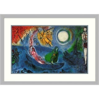 Framed Art Print 'The Concert' by Marc Chagall - Outer Size 34x24-inch