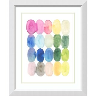 Framed Art Print 'Color Melt II' by Victoria Borges - 27x33-inch