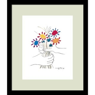 Link to Framed Art Print 'Fleurs' by Pablo Picasso - Outer Size 13 x 15-inch Similar Items in Art Prints