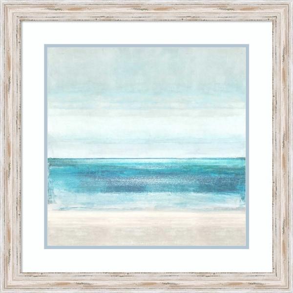 Framed Art Print 'Azure Horizon' by Taylor Hamilton - 26x26-inch