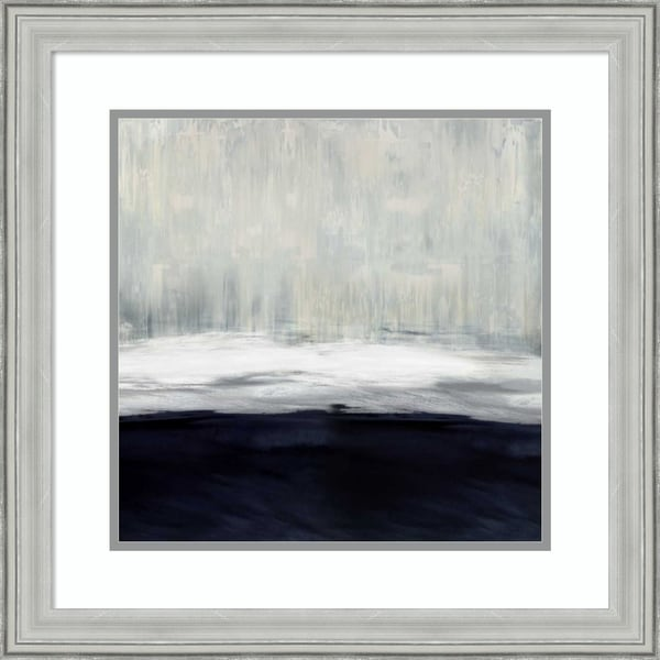 Framed Art Print 'White on Blue' by Taylor Hamilton - 23x23-inch