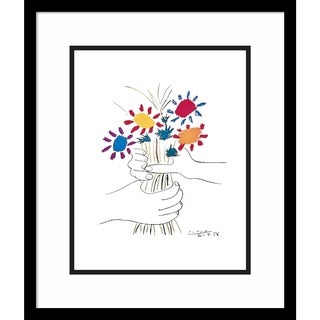 Framed Art Print 'Fleurs' by Pablo Picasso - Outer Size 17 x 20-inch