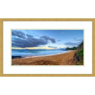 Framed Art Print 'Little Beach-Maui' by Scott Bennion - 26x16-inch