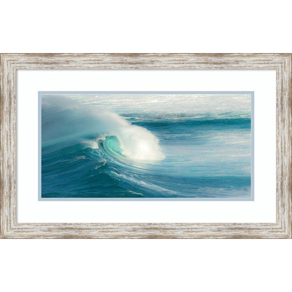 Framed Art Print 'Jaws-Maui' by Scott Bennion-Outer Size 28x18-inch