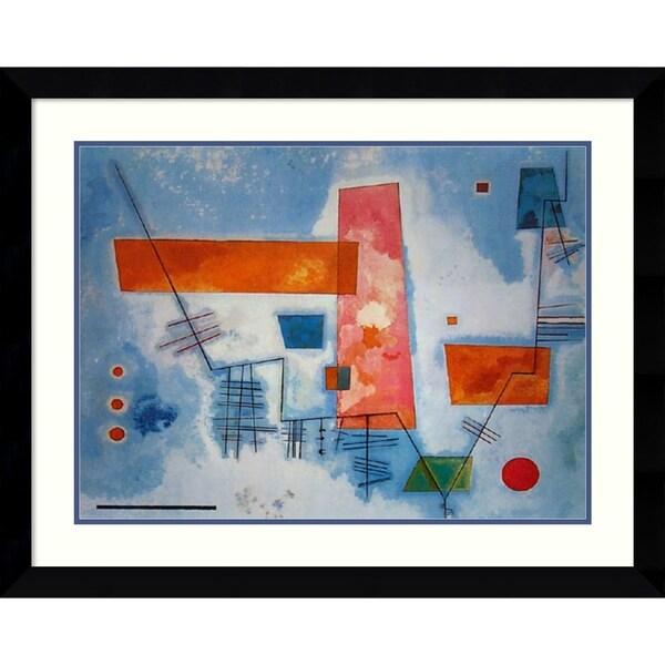 Framed Art Print 'Struttra Angolare' by Wassily Kandinsky - 35x28-inch