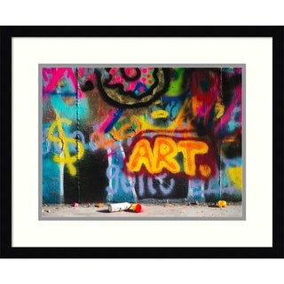 Framed Art Print 'Girly Graffiti Art' by Sonja Quintero - 22x18-inch