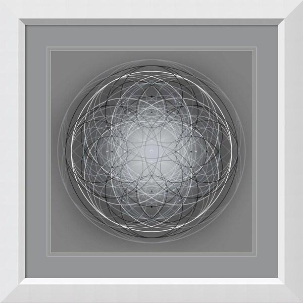 Framed Art Print 'Positive Energy V' by Tyler Anderson - 28x28-inch