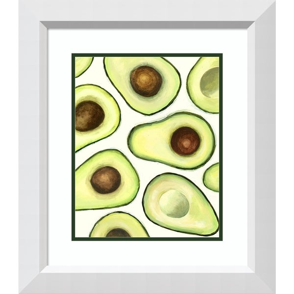 Framed Art Print 'Avocado Arrangement I' - 21x24-inch