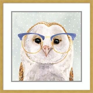 Framed Art Print 'Four-eyed Forester II Owl' - 24x24-inch
