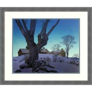 Framed Art Print 'Hill Top Farm, Winter' - 30x27-inch