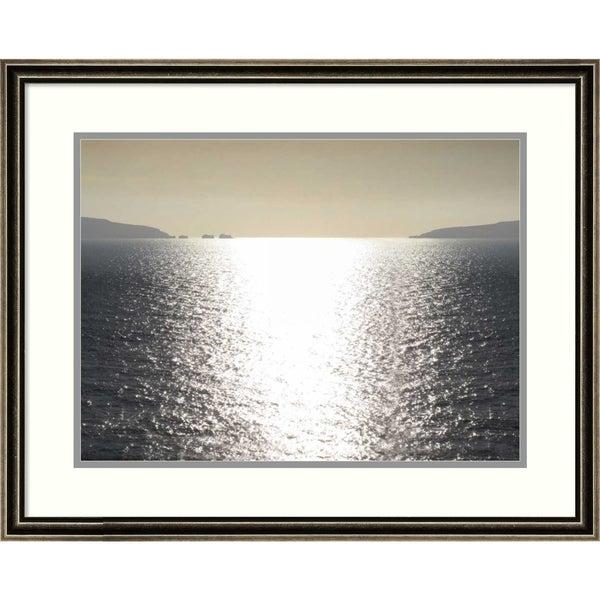 Framed Art Print 'Sunlight Reflection' by Maggie Olsen - 26x21-inch