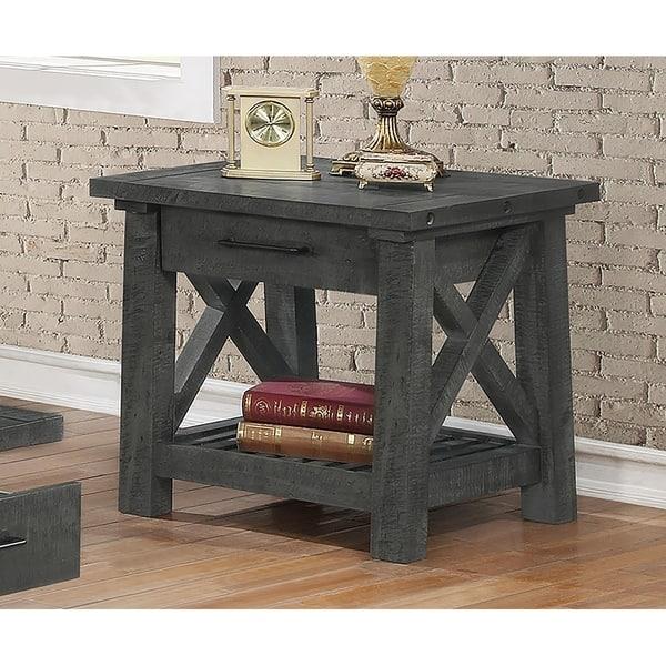 Piece Grey Rustic Coffee Table