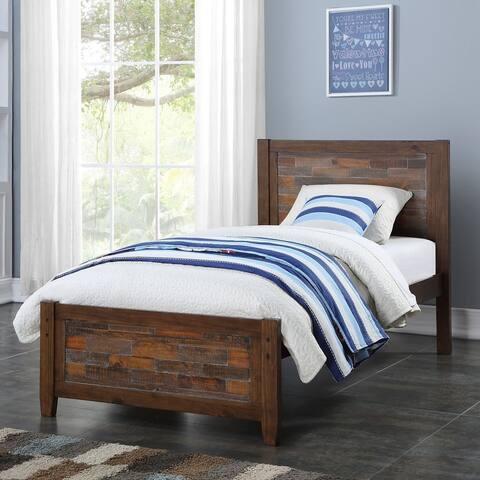 Carbon Loft Twitchen Kids Twin Artesian Bed in Brown Glaze