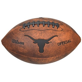 NCAA Vintage Texas Longhorns 9 Inch Leather Football