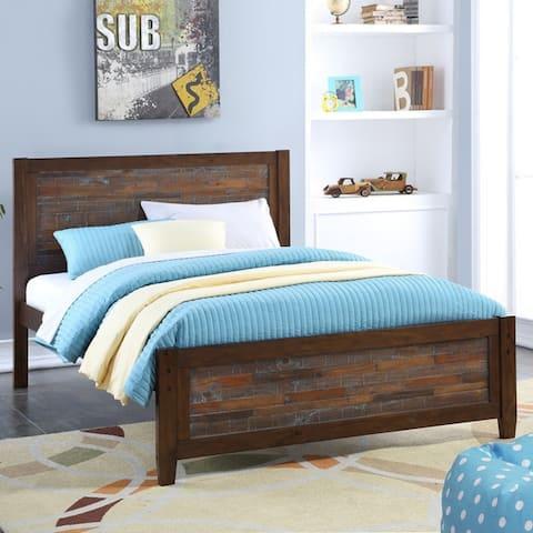 Carbon Loft Twitchen Kids Full Artesian Bed in Brown Glaze