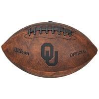 NCAA Vintage Oklahoma Sooners 9-inch Leather Football