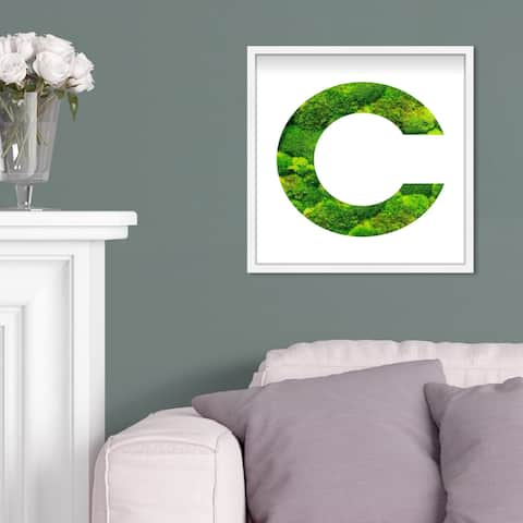 Oliver Gal' The Letter C Nature' Alphabet Letters Live Moss Art