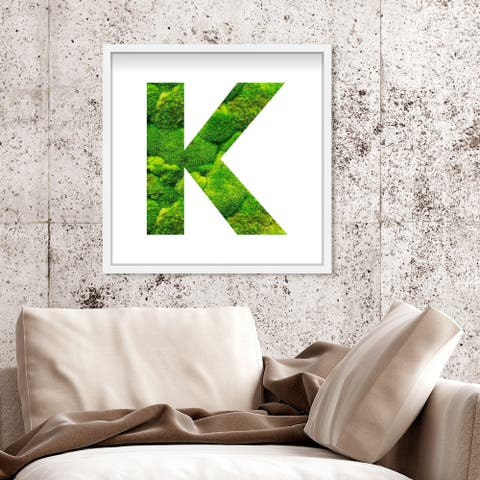 Oliver Gal' The Letter K Nature' Alphabet Letters Live Moss Art